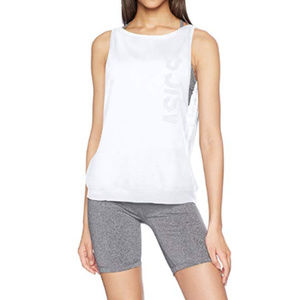 ASICS Women's Brilliant White Large Muscle Tank